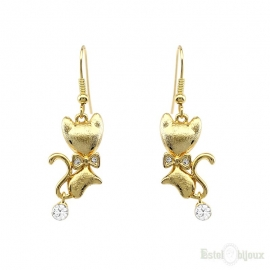 Kittens Gold Plated Earrings