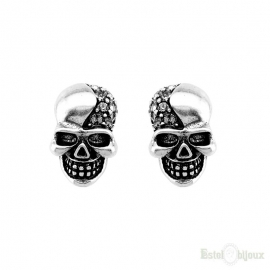 Skull and Strass Earrings
