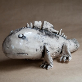 Big Lizard Figurine Ceramic