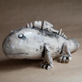 Big Lizard Figurine Ceramic