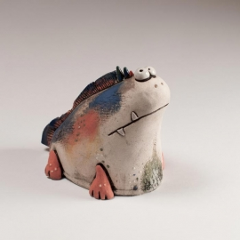 Fish Evolution Figurine Ceramic