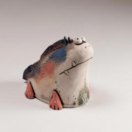Pesce Evoluzione Figurina in Ceramica