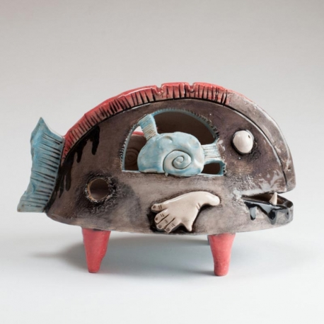 Fish African Figurine Ceramic