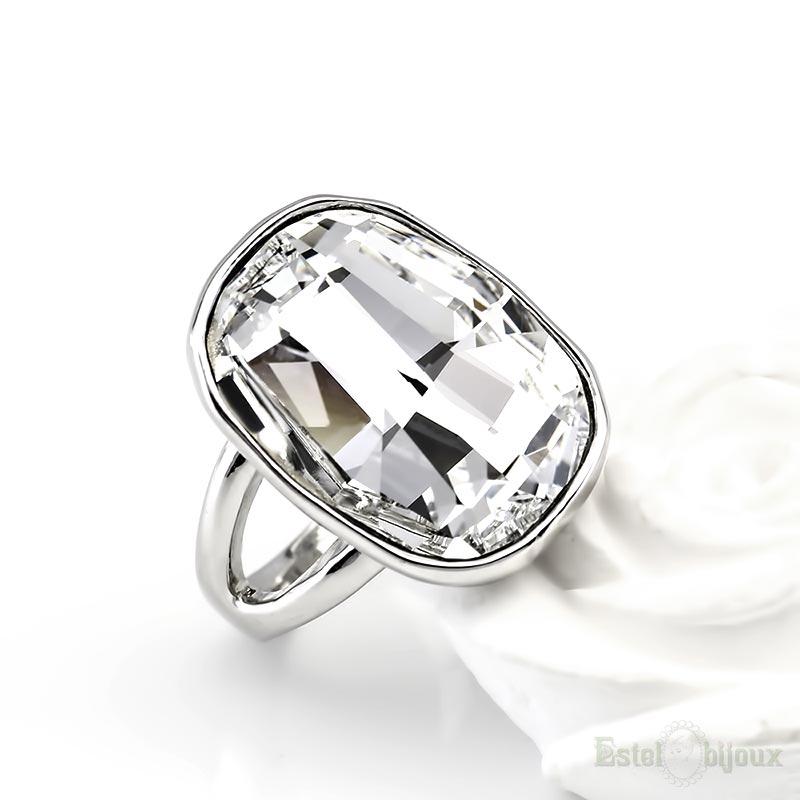 7222b8f07703a Big Swarovski Crystals Ring On line shop