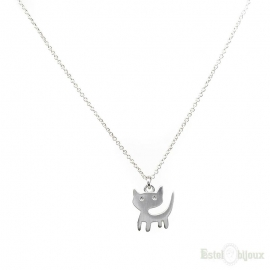 Kitten Silver Color Necklace