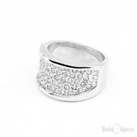 Pavé Crystals Wide Ring