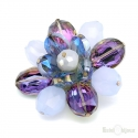 Flower with Crystals Brooch