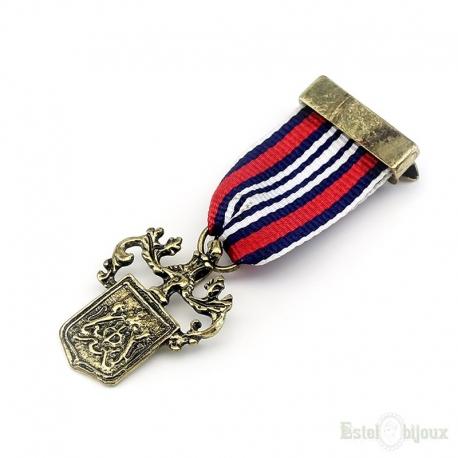 Coat of Arms Medal Brooch