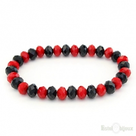 Black and Red Elastic Bracelet