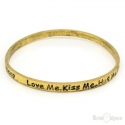Love Written Rigid Bracelet
