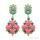 Pendants Multicolor Strass Stud Earrings