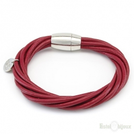 Colorful Closing Magnet Leather Bracelet