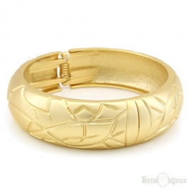 Gold Tone Rigid Bracelet
