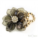 Big Black Acrylic Flower Bracelet