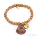 Netsuke Buddha Beads Elastic Bracelet