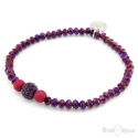 Purple Crystals Elastic Bracelet