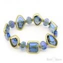 Bracciale Elastico Cristalli Blu