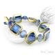 Blue Crystals Elastic Bracelet