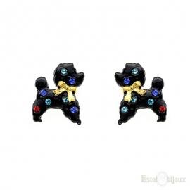 Dog Poodle Stud Earrings