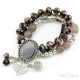 Cameo Crystals and Stones Elastic Bracelet