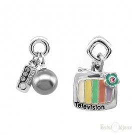 Orecchini Piccoli TV e Telecomando