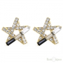 Stars Crystals Stud Earrings