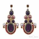 Soutache Purple Earrings