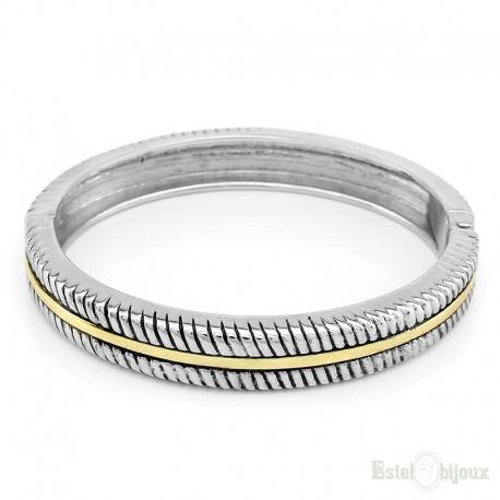 Silver Tone Rigid Bracelet