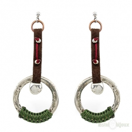 Hoops Pendant Earrings