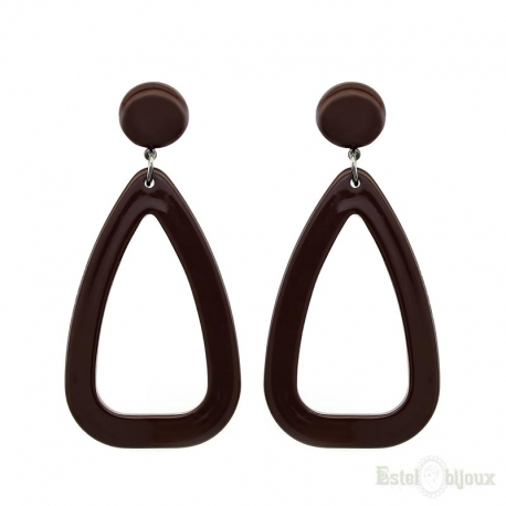 Drops Brown Acrylic Earrings