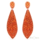 Pavé Crystals Orange Drop Earrings