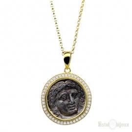 Collana in Argento con Moneta Antica