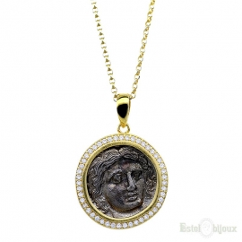 Necklace with Old Coin