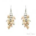 Cluster Pearls Silver Earrings