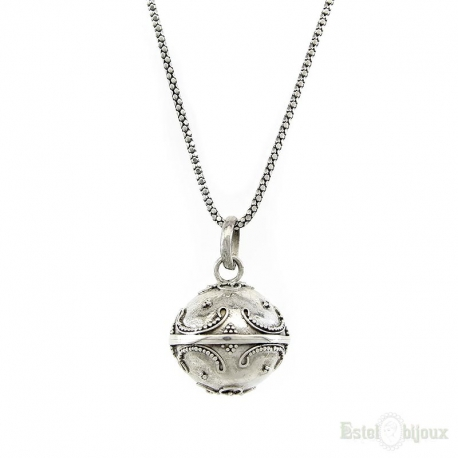 Angel Caller Ball Silver Necklace