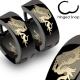 Dragon on Black Hinged Hoop Earring