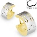 Gold Plated Arc Design Hoop Earring