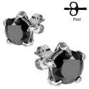 Black CZ Eagle Claw Stud Earring