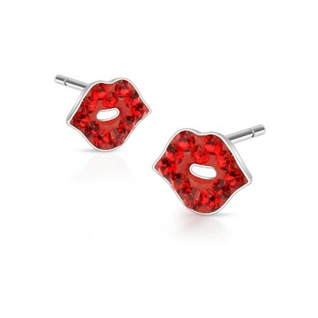 Multi Paved Sexy Lip Ferido Stud Earring