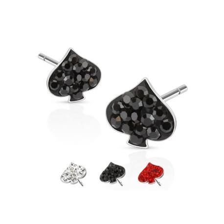 Multi Paved Spade Ferido Stud Earring