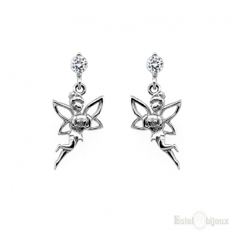 Little Fairy Princess Silver Earrings