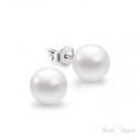 Orecchini con Perle Bianche 6 mm in Argento 925