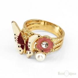 Anello Farfalla Placcato in Oro