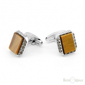 Tigers Eye Men Cufflink