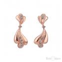 Slim Dancing Flower Gold Plated Stud Earrings