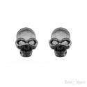 Black Small Skull Stud Earrings
