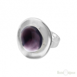 Purple Design Round Ring