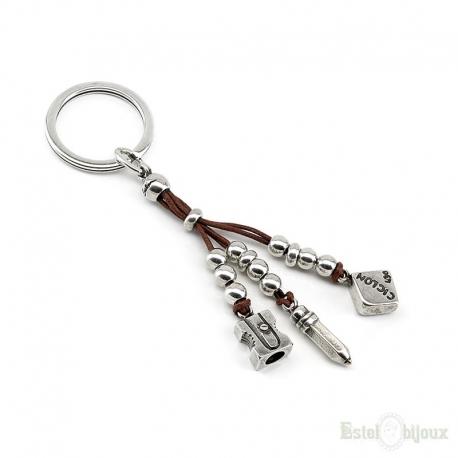 Pencil Sharpener Eraser Key Chain