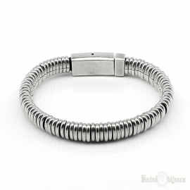 Silver Plated Metal Men Bracelet
