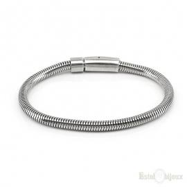 Snake Silver Metal Men Bracelet